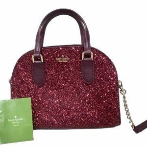 Kate Spade Red Glitter Sparkle Purse Bag